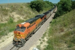 BNSF 5729, ES44AC, works as a DPU eastbound